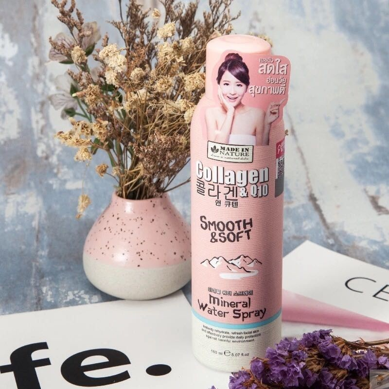 Xịt khoáng Made In Nature Smooth & Soft Mineral Water Spray 150ml